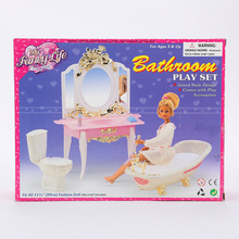 miniature case for barbie furniture accessories Doll Gift Set girl children toys children play house simulation suite bath toy