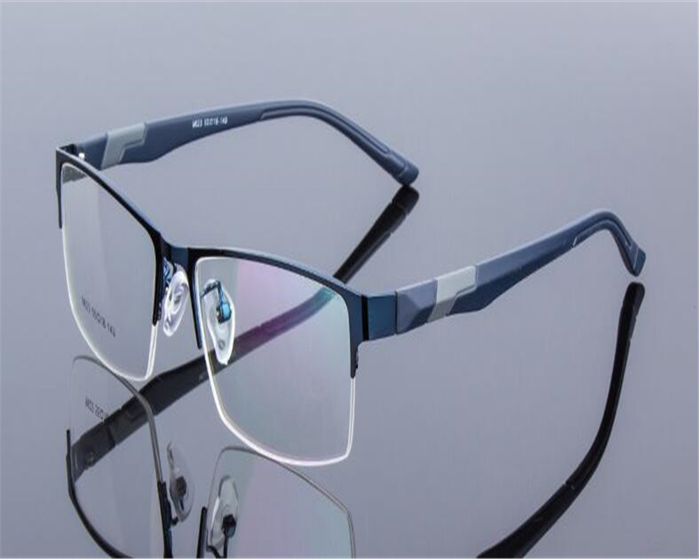 Progressive Near Me >> DOWER ME Light Business Men Half Rim Blue Progressive Multi focal Lens Optical Reading Eyewear ...