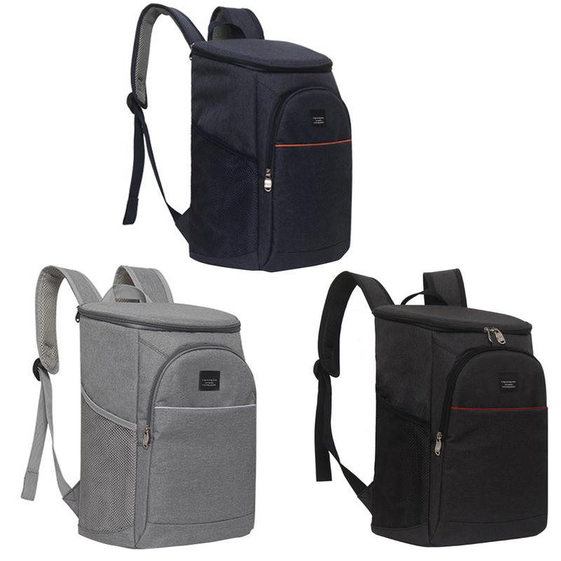 New Style 18L Large Insulation Backpack <font><b>Ice</b></font> <font><b>Pack</b></font> Bag Insulated Bag Red Wine <font><b>Lunch</b></font> Picnic Portable Insulated Food Cooler Bags image