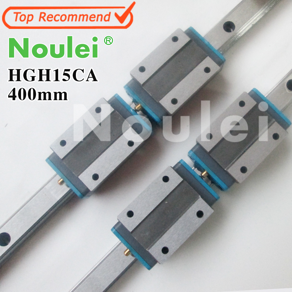 Noulei HGH15CA linear guide block 4pcs with HGR15 rail 400mm for z axis CNC parts DIY HGH15 High quality tbi 2pcs trh20 1000mm linear guide rail 4pcs trh20fe linear block for cnc