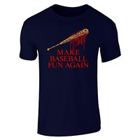 2017 Fashion Hot Sell Team Negan Make Baseball Fun Again Short Sleeve T Shirt 100 Cotton