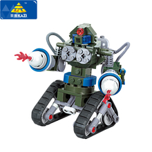 KAZI 81004 Red Alert 3 USA X-2 Blocks Future Coming Tank Military Building Block DIY Toys Robot Tank Triangle Chariot Bricks