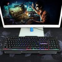 104 Key LED Backlit Waterproof Gaming Keyboard, 19 Key Anti ghosting Mechanical USB Wired Games Key Board