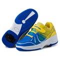 2017 nuevas llegadas niños roller shoes con ruedas simples niños sneaker casual shoes para niños niñas zapatillas de deporte de moda de la venta caliente