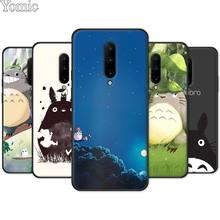 Black Case for Oneplus 7 7 Pro 6 6T 5T Silicone Phone Case for Oneplus 7 7Pro My Neighbor Totoro Anime Soft Cover Shell