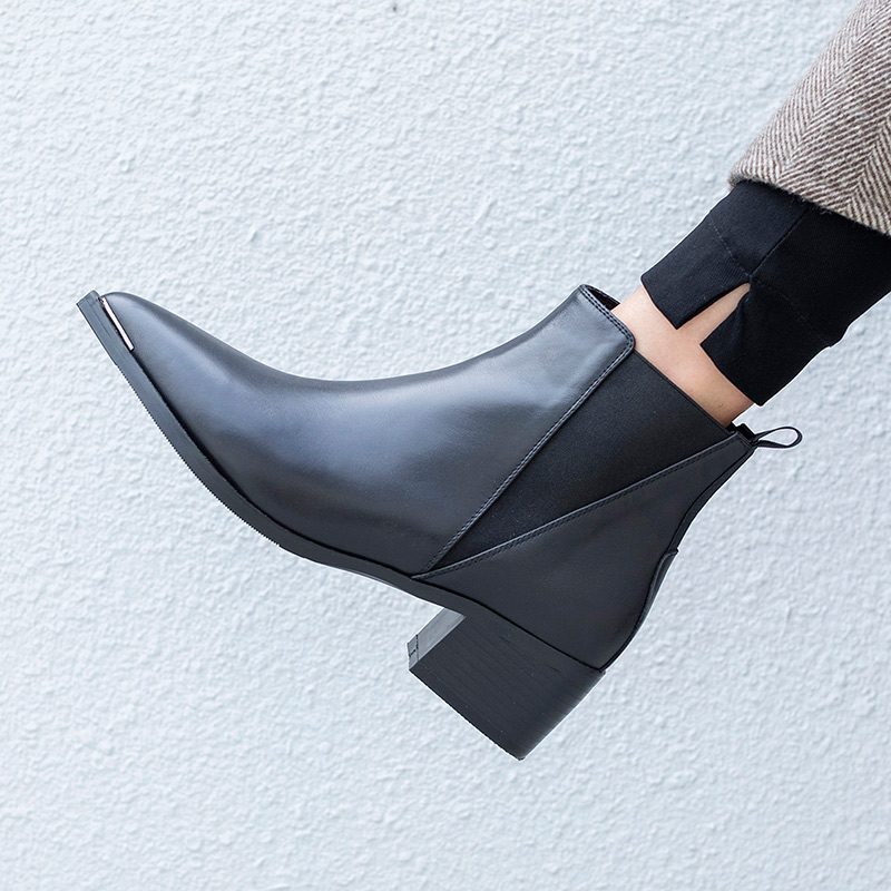 2018 Le Botas In Casual A Med Mujer New Donne Per Black Tacchi wqUt6t7