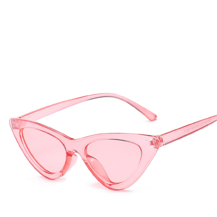 Women's Glasses Women's Sunglasses Xinfeite Sun Glasses Trend Personality Triangle Frame Cats Eye Color Coating Uv400 Womens Sunglasses Seventeen Colors X117