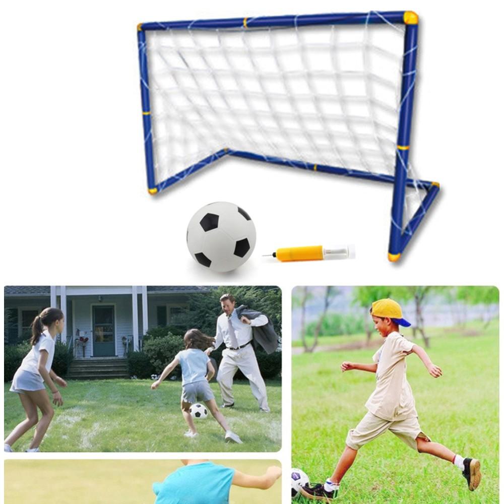 Футбольные ворота с сеткой + мяч с насосом. Собери команду и играй в футбол! Купить, Цена, Бесплатная доставка