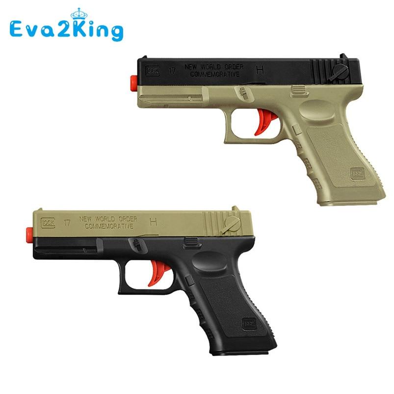 Eva2king Soft Water Bullets Toys Gun Plastic Safe Orbeez Gun Weapon Pistol Gunshot Outdoor Game Toy