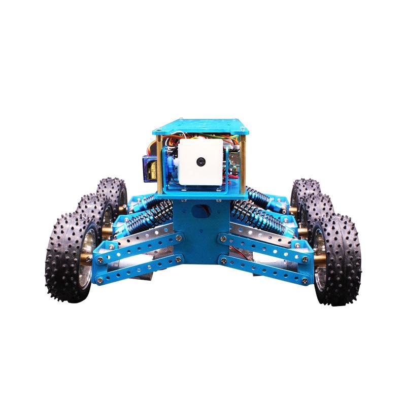 Arduino 6WD Fuori Strada Kit di Robot di Ricerca e salvataggio smart car chassis piattaforma 6 drive telaio in alluminio-in Componenti e accessori da Giocattoli e hobby su  Gruppo 3