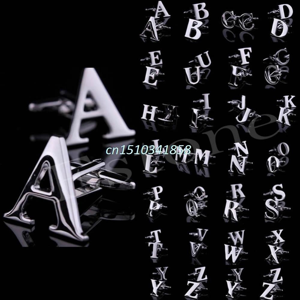 1 Par A til Q Novelty Person Initials Letters Mansjettknapper
