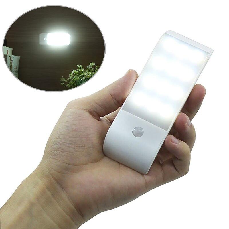 Motion Sensor Night Light 12 LED Rechargeable Magnétique Lampe pour Armoire Cabinet Cuisine CLH @ 8