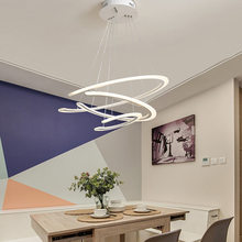 modern led gold pendant light fixtures with remote control kitchen living room loft hanging ring lamp decor home lighting 220v Modern Ring Led Pendant Light Fixture With Remote Control Lustre Kitchen Dining Room White Hanging Lamp Decor Home Lighting 220V