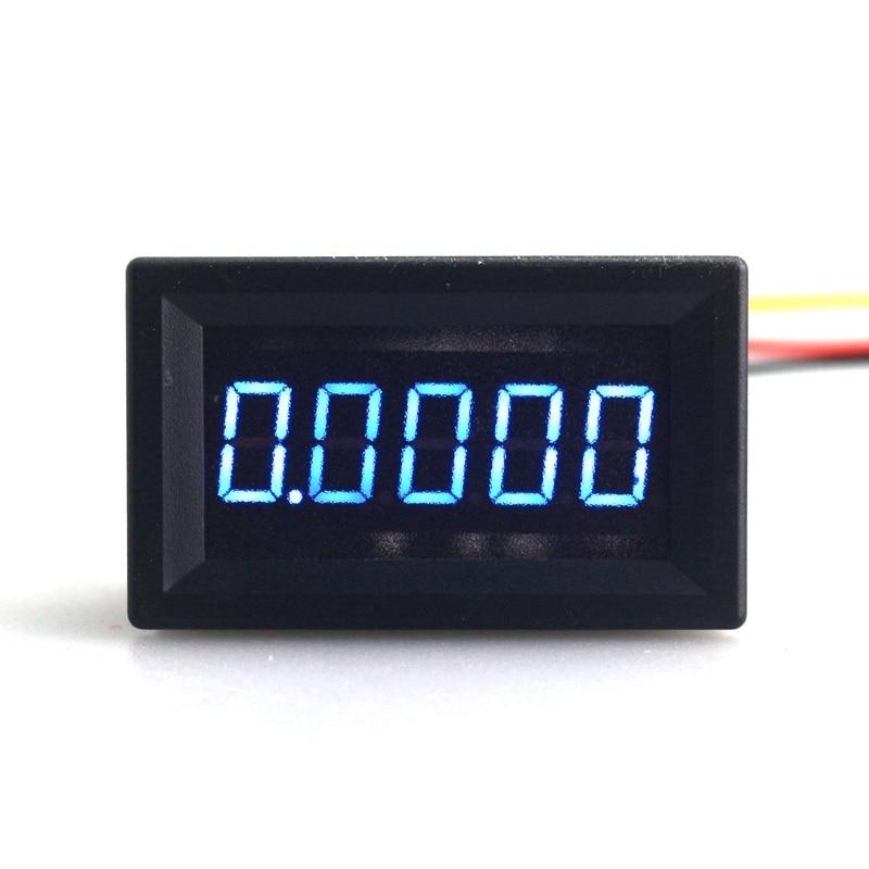 Blue LED 5 Digit DC 0-4.3000-33.000V Digital Voltmeter Voltage Meter Car Panel M