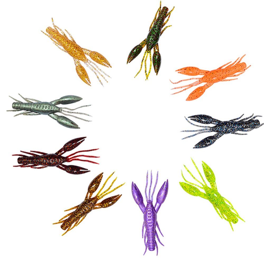 High Qualitty 3 Pcs Fake Soft Silicone Hammer Artificial Lobster Crawfish Fishing Lure Bionic Bait #277902
