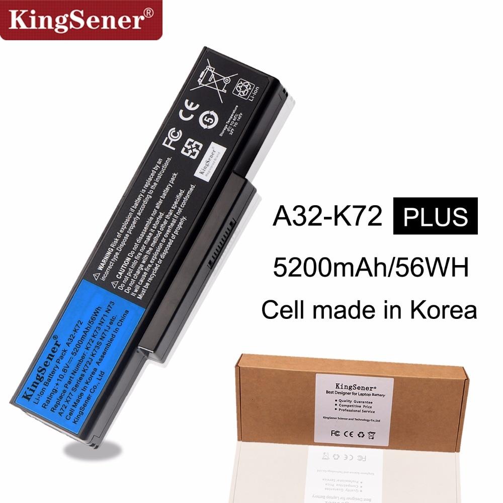 KingSener Korea Cell A32-K72 A32-N71 Battery For ASUS K73E N71 N71J N71JA N71JQ N71JV N71V N71VG N71VN N73 N73F N73S N73SV X77JAKingSener Korea Cell A32-K72 A32-N71 Battery For ASUS K73E N71 N71J N71JA N71JQ N71JV N71V N71VG N71VN N73 N73F N73S N73SV X77JA