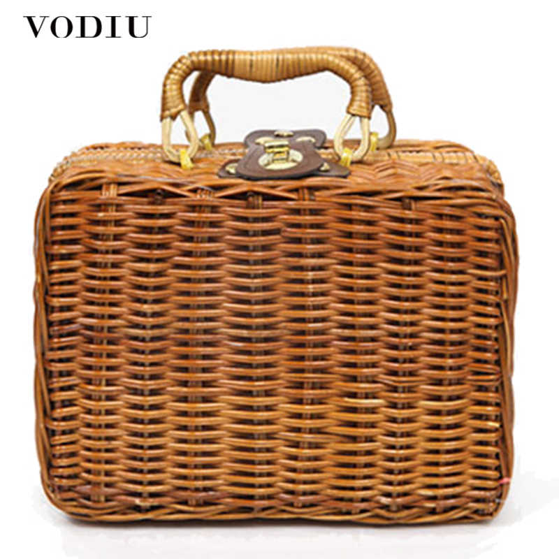6d905127ec1f Detail Feedback Questions about 2019 hand woven bag rattan straw ...