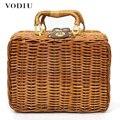 Летняя женская сумка для макияжа  сумка из ротанга для женщин  винтажный стиль  многофункциональная сумка  пляжная сумка  женские сумки в бо...