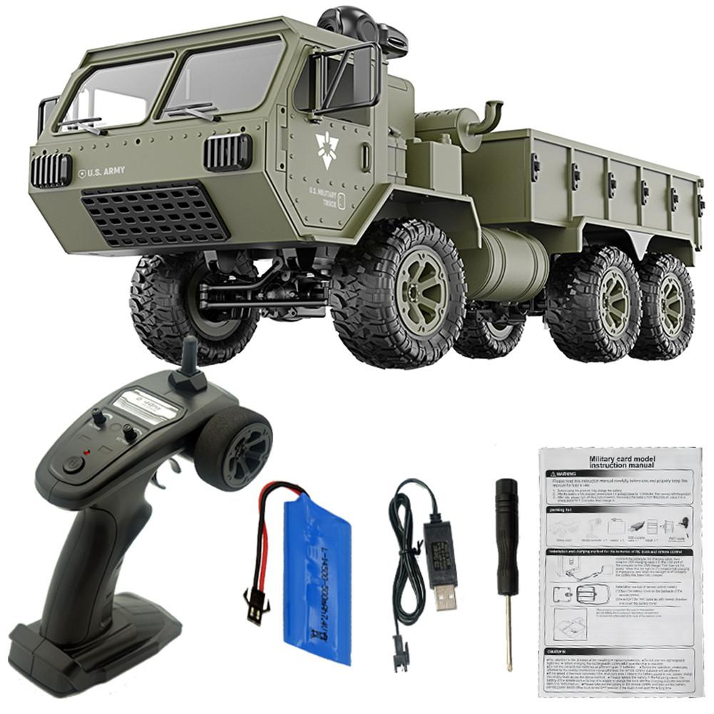 LeadingStar Fayee FY004A 1/16 2.4G 6WD Rc Car Proportional Control US Army Military Truck RTR Model Toys