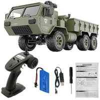 LeadingStar Fayee FY004A 1/16 2,4G 6WD Rc coche de Control proporcional US ejército militar camión RTR modelo Juguetes
