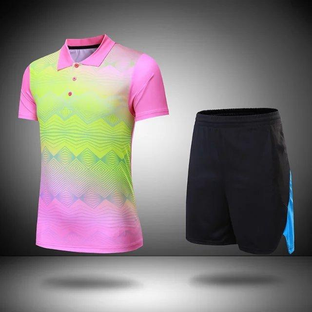 Lovers Blank Badminton Jersey & Shorts Män & Kvinnor Tränings Bord - Sportkläder och accessoarer - Foto 5
