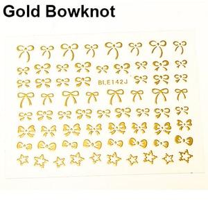 Image 5 - 3d bowknot coração unha arte dicas decoração studs adesivo auto adesivo diy decoração manicure decalques