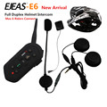 Ejeas E6 Wireless Full Duplex Helmet Intercom BT Interphone 1300M Motorcycle Bluetooth Helmets Headset Walkie Talkie for 6 Rider