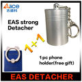 Free Shipping 1pc 12000GS Portable Magnet eas tag remover strong 12000gs detacher+ 1 pcs ring holder