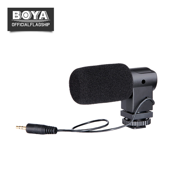 BOYA BY-V01 Stereo Condenser Microphone w/ Windshield for Canon 5D II 5D3 7D 6D 70D 60D 600D 650D Nikon Sony DSLR Video Camera ismartdigi lp e6 7 4v 1800mah lithium battery for canon eos 60d eos 5d mark ii eos 7d