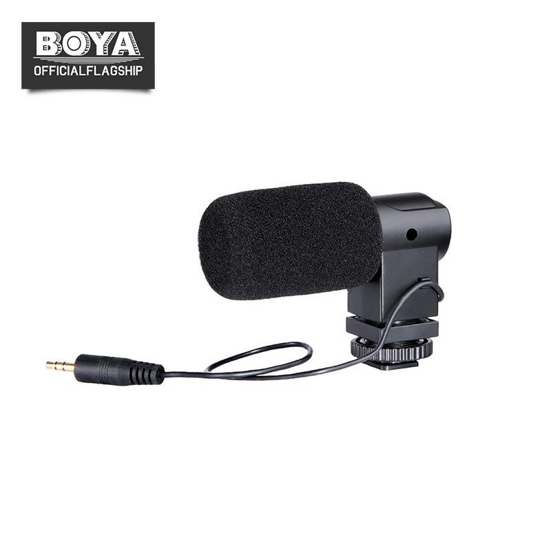 BOYA BY-V01 Stereo Condenser Microphone w/ Windshield for Canon 5D II 5D3 7D 6D 70D 60D 600D 650D Nikon Sony DSLR Video Camera
