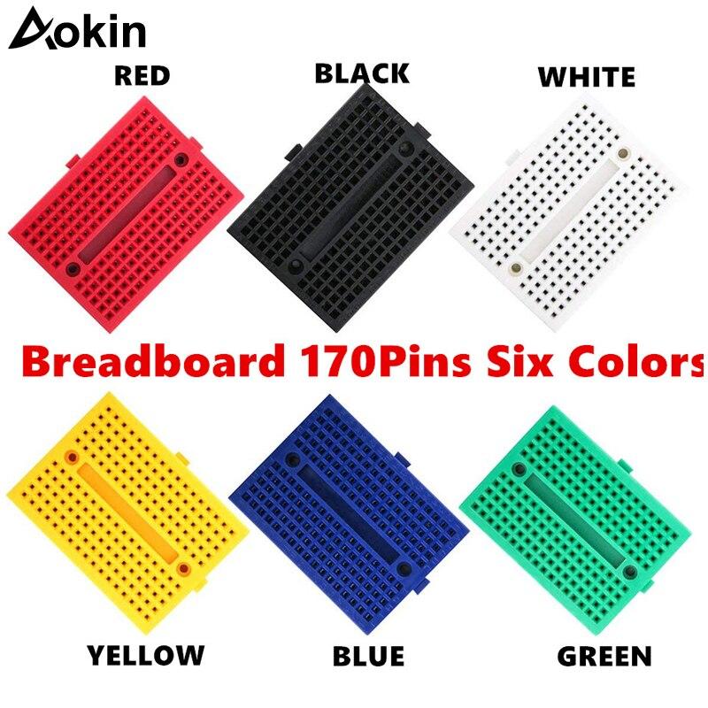 10PCS 170 Tie-points Mini Solderless Prototype Breadboard for Arduino Green new