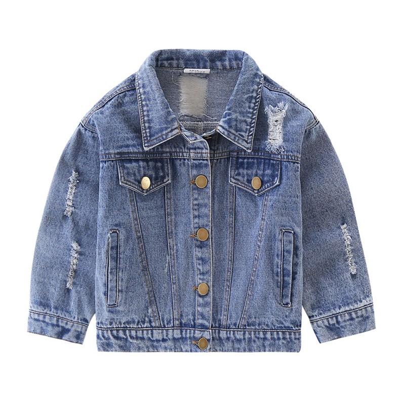 Jean Jacket for Kids Toddler Boys Denim Coat 2018 New Arrive Spring Letter Kids Jackets Children Outfit Infant Clothes 2 -8Years