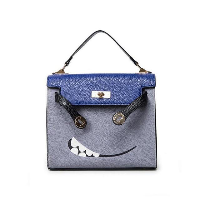 2016 Winter New Fashion Women Handbag Spoof Expression Printing PU Female Messenger Bag High Quality Casual Shoulder Bag 852