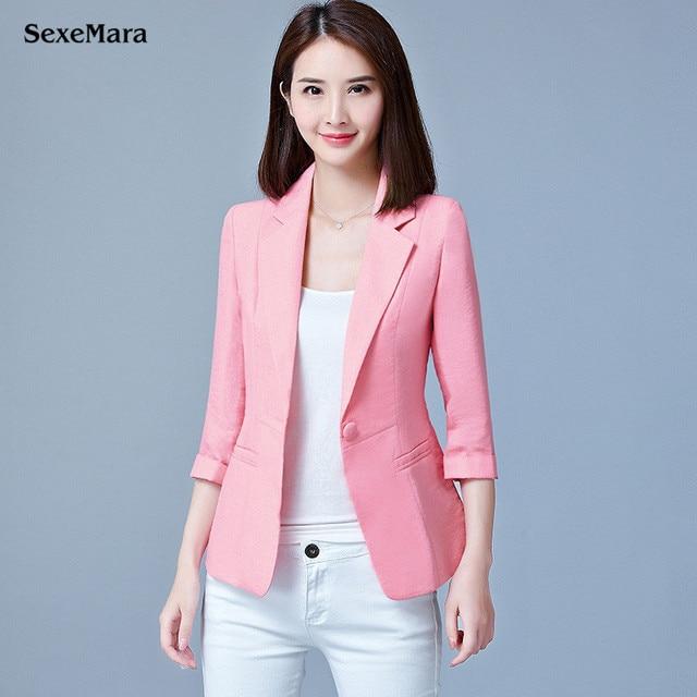 e7d409a4886 2017 Fashion Spring Women Slim Blazer Coat Elegant Casual Jacket Plus Size  One Button Ladies business attire Blazers Workwear