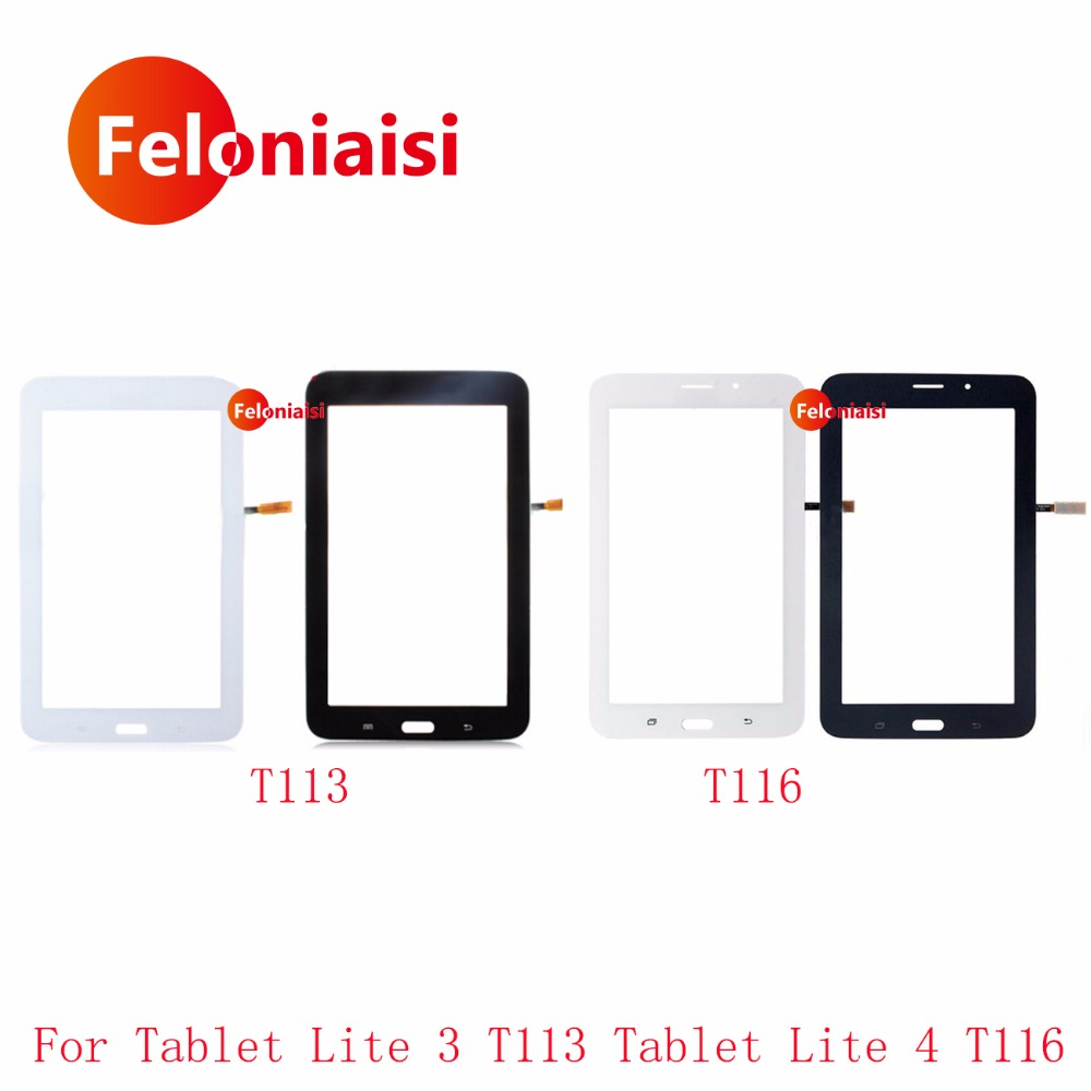 High Quality 7.0 For Samsung Galaxy Lite 3 T113 and Lite 4 T116 Touch Screen Digitizer Sensor Front Outer Glass Lens Panel touch screen replacement module for nds lite