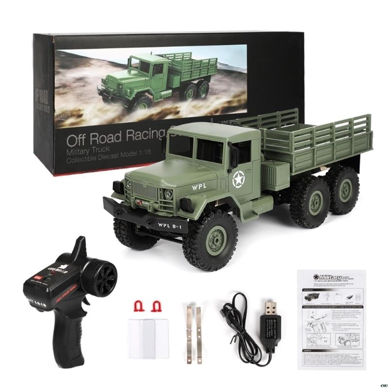 2019 NEW WPL B16 RC Military Truck Kits 4WD 1/16 Off-road Crawler Car Toy Boys Kids DIY
