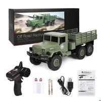 2019 nova wpl b16 rc kits de caminhão militar 4wd 1/16 fora de estrada rastreador carro brinquedo meninos crianças diy