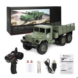 2019 nowy WPL B16 RC ciężarówka wojskowa zestawy 4WD 1/16 Off road Crawler samochodzik chłopcy dzieci DIY w Ciężarówki RC od Zabawki i hobby na
