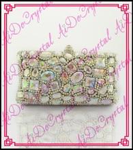 Aidocrystal Neueste Weiß AB farbe stilvolle frauen abendtasche Luxus Strass handtaschen Frauen party geldbörse