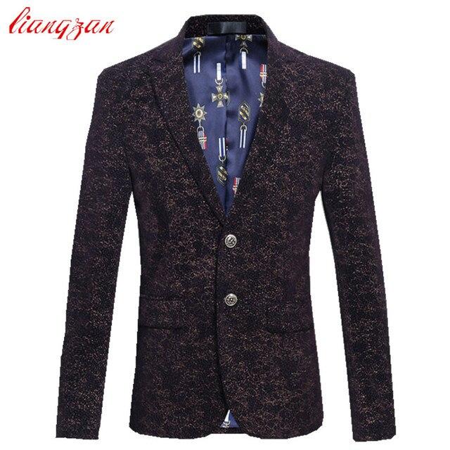 Men Business Blazer Jacket Brand Slim Fit Jacket Suit Male Plus Size 5XL 6XL Cotton Wedding High Quality Costume Homme F2346