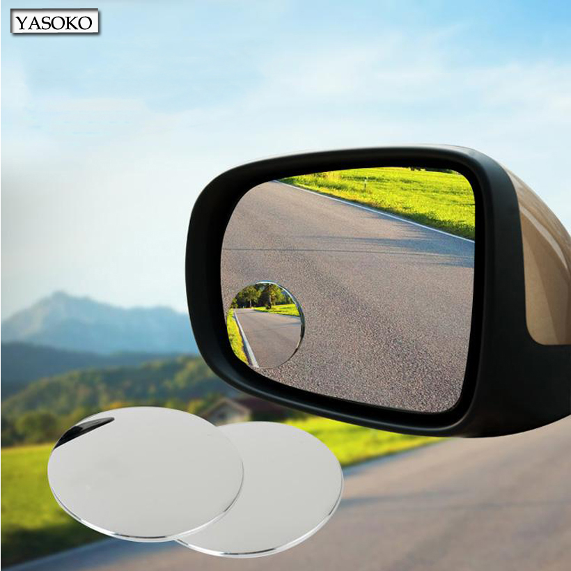 1 pair newest 360 degree frameless ultrathin wide angle for Mirror quality