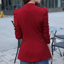 Long Sleeve Office Lady Zipper Blazer