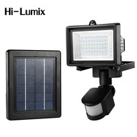 Hi lumix Outdoor Solar Lights PIR Motion Sensor Waterproof 60LED Security Wall Light Rechargeable Floodlight Garden,Gate,Roof