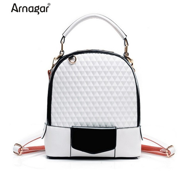 2016 Fashion women backpack female leather travel bag Vintage high-quality school shoulder bag mochila backpack for teenage girl