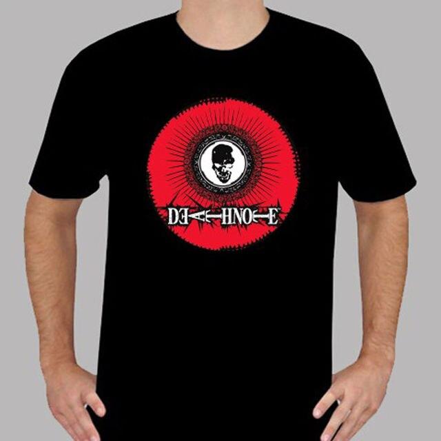 2018 Short Sleeve Cotton T Shirts Man Clothing New Death Note Symbol