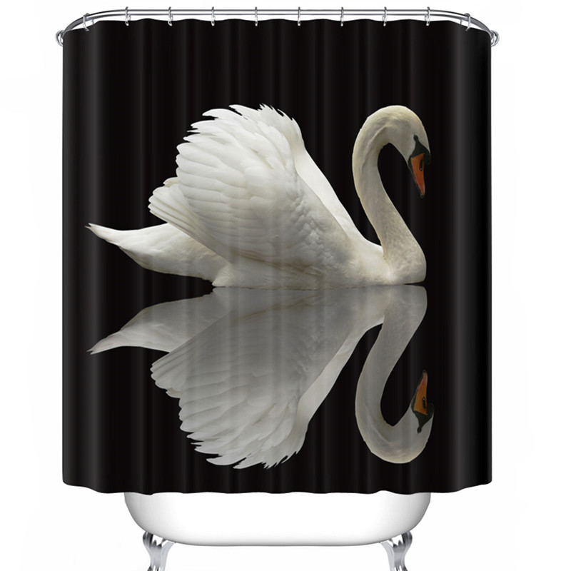 Compare Prices On Swan Shower Curtain Online Shopping Buy