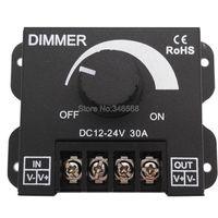 LEVOU Dimmer DC 12 V 24 V 30A 360 W Brilho Ajustável Único cor Da Lâmpada Lâmpada Luz de Tira Controlador Dimmer para 5050 3528 fita