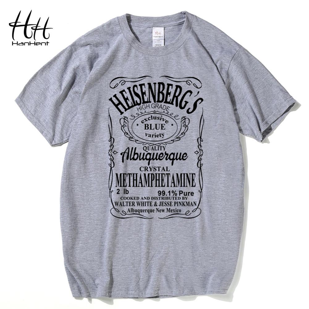 HanHent Heisenberg T-Shirt Men Walter white anime shirt Cotton Casual Funny T shirts Swag Breaking bad Tops Los pollos hermanos image