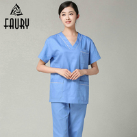 Hospital Doctor Surgeon Medical Surgical Set Nursing Scrub Sets Short Sleeve Tops Pants Dental Clinic Beauty Salon Work Uniforms