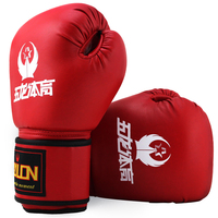Brand Red Blue 10oz Muay Thai Wushu Guantes Boxing Gloves For WTF Punch Sandbag Training Protection